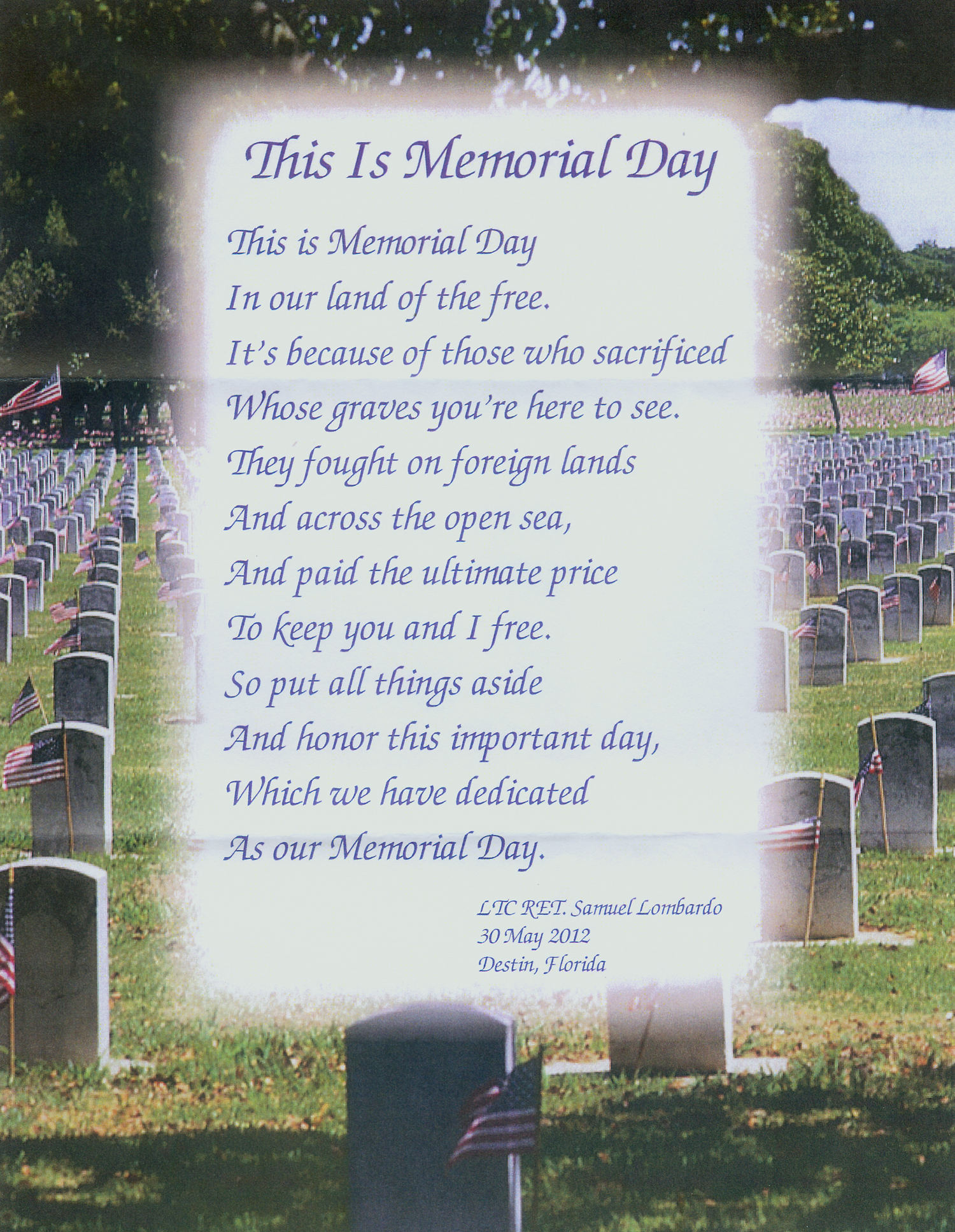 Poems For Memorial Day